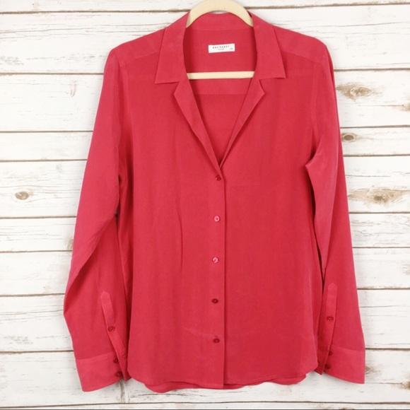 f81caa985 Equipment Femme Long Sleeve Adalyn Silk Shirt